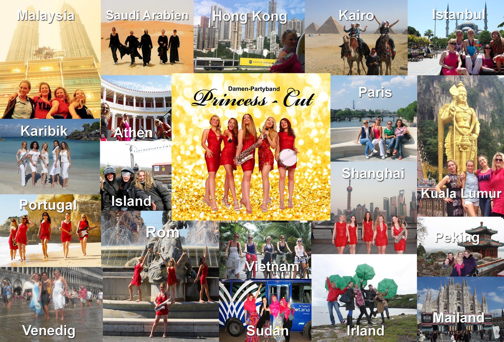 Damen-Partyband Princess Cut von Uta Sophie Halbritter ist eine weltweit erfolgreiche Coverband zum Feiern und Tanzen