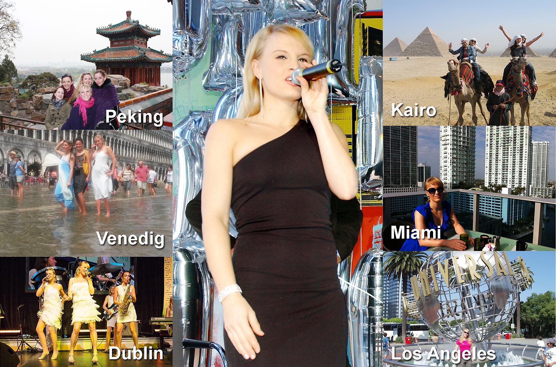 Moderatorin Uta Sophie Halbritter mit ihren Damen-Bands für Firmenevents, Messen und Jubiläen