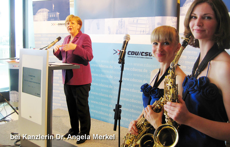 Saxophonquartett Sax-Deluxe mobile Damenband für Events von Uta Sophie Halbritter
