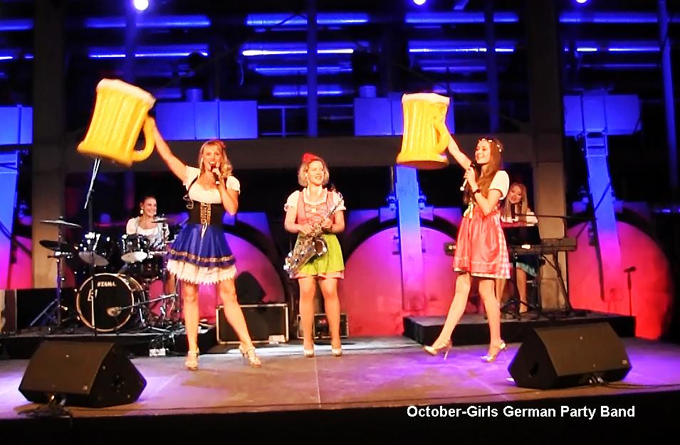 Oktoberfest Showband October Girls spielen live die bekannteste Oktoberfestmusik