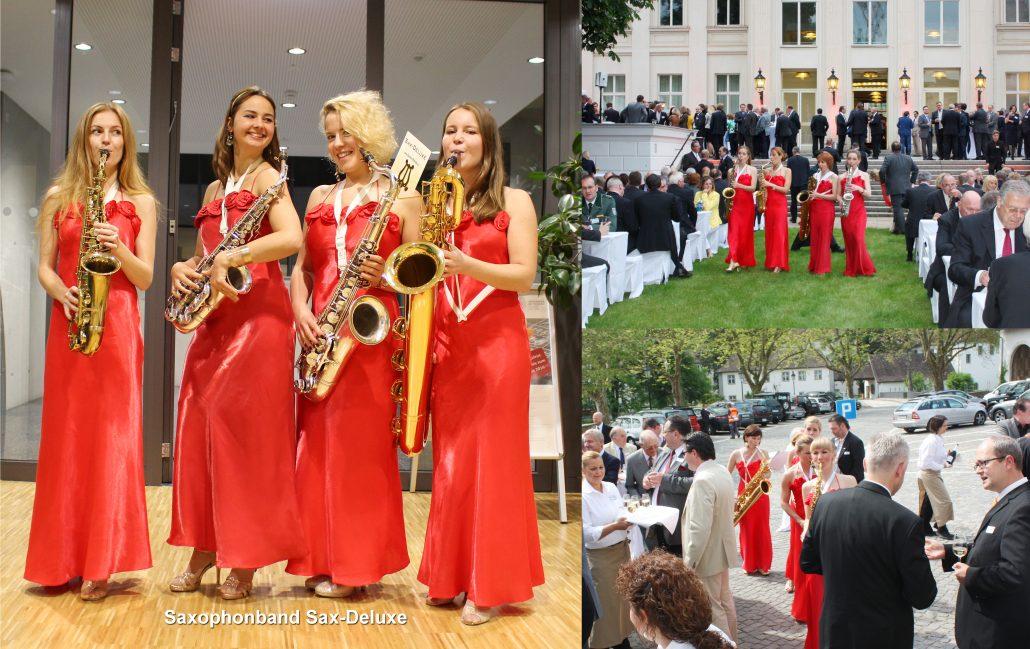 walking act Sax-Deluxe Damenband für Firmenevents von Uta Sophie Halbritter